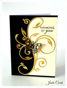 Rubber Stamp Fantasy: Here are a few beautiful cards to inspire your creativity! These simply elegant cards are done using Memory Box Butterfly Dies. The artist is Justnya from justacard. Enjoy