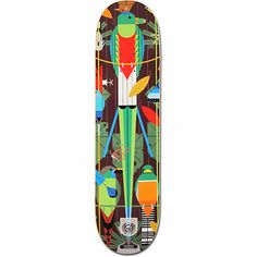 Habitat Skateboards and Charley Harper have come together to create the Monteverde Bamboo skateboard deck. Featuring bamboo Ply construction for added life and pop with graphics from the famed animal artist Charley Harper. Keep it renewable with the Habitat Monteverde 8.0 bamboo skate deck.