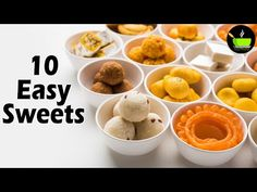 10 Easy Sweets Recipes | Quick & Easy Sweet Recipes | Instant Sweet Recipes | Indian Sweets - YouTube Easy Sweets, Sweets Recipes, New Recipes, Indian Sweets, Confectionery, Quick Easy Meals, Cooking, Breakfast, Youtube