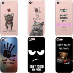 Don't touch my phone British Shorthair French Bulldog Clear soft silicon TPU case cover For Apple iphone 7 7plus 5S SE 66S 6plus