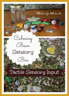 Calming Sensory Bin Play Sensory Seekers Wanted & Welcome! [pinit] Tactile Sensory Diet Play Our son is a great sensory seeker mostly vestibular and proprioception but also tactile too! We have found sensory bins with a heavier weight such as rice and beans to be calming for him. We have used sensory bins and sensory...Read More »