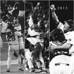 Boston Red Sox World Series History. Love the 2007 one when Papelbon is lifting Varitek