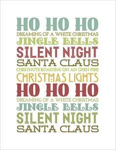 free christmas subway art printables | ... Nonsense & Other Junk » FREE! Christmas Printables Subway Art