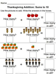 math worksheet : 1000 images about math on pinterest  ten frame activities place  : Thanksgiving Math Worksheets Kindergarten