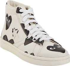 b53f8a7a39e8 Comme des Garçons PLAY Heart-Print Pro Sneakers - Sneakers - Barneys.com  Play