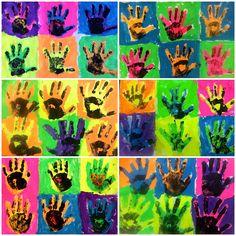Kindergarten Andy Warhol Pop Art Hands-Meet the Masters