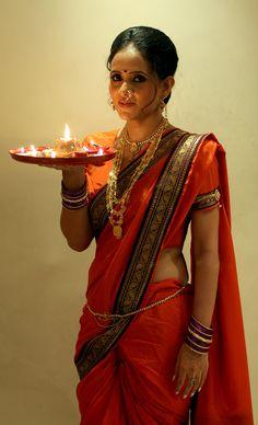Nauvari Style Saree Drape