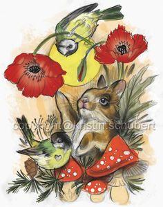 Snoopy Bunny, Druck auf Büttenpapier in Postkartengröße, numeriert und signiert, incl. StickerbombDesign: Kristin Schubert