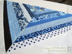 made by ChrissieD: A Not So Wonky Roman Stripe Block: My January 2014 NYC Mod Quilt Guild Bee Block