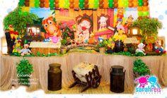 Mesa do tema cocorico, vai decorar suas festas e deixalas ainda mais lindas.