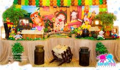 Mesa do tema cocorico, vai decorar suas festas e deixalas ainda mais lindas. Table Decorations, Painting, Home Decor, Dinosaur Birthday Party, Themed Parties, Ideas Party, Places, Decoration Home, Room Decor