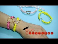 Faça pulseira e elástico para cabelo em um minutos - YouTube