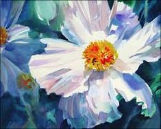 Image result for abstract flower watercolor painting