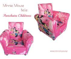 Μπες στο μαγικό κόσμο της Disney,ξεκουράσου με την παιδική πολυθρόνα MINNIE MOUSE BELLE!Απαλό ύφασμα με καταπληκτικό χρώμα! Minnie Mouse, Armchair, Disney, Furniture, Home Decor, Sofa Chair, Single Sofa, Decoration Home, Room Decor