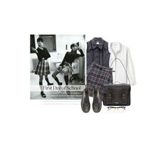 """""""Dans Les Toilettes Des Filles / In The Girls' Restroom"""" by halfmoonrun ❤ liked on Polyvore featuring Lacoste, Chanel, Dr. Martens and BackToSchool"""