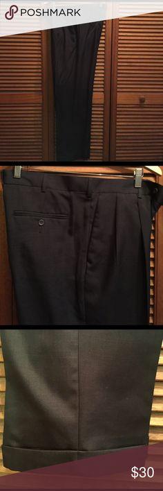 Men's Perry Ellis Portfolio trousers Charcoal grey great men's trousers size 34x32 perry ellis portfolio Pants Dress