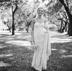 Wedding Dress, Naeem Khan; Venue, Fenwick Hall Plantation; Photo: 509 Photo - South Carolina Wedding http://caratsandcake.com/WizzieandDan