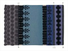 Tapete com listrado de lã TUMBUCTU' - GAN By Gandia Blasco
