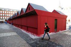 El mercadillo navideño de la Plaza Mayor de Madrid estrena #diseño
