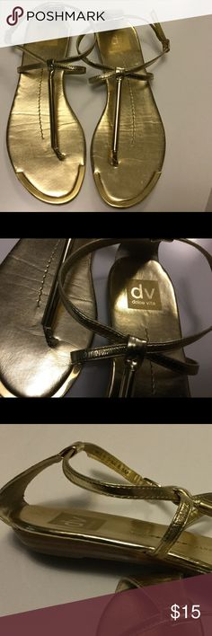 Gold Sandals Ready for Spring and Summer! Very Pretty!! Dolce Vita Shoes Sandals