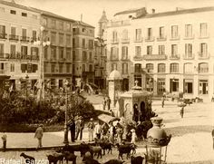 Malaga antigua Old photograph Plaza de la Constitución,fotos, old, century, photos, nineteenth, xix, siglo
