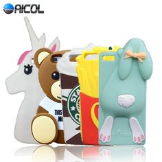 New 3D Cartoon Bear Rabbit Silicone Case For Huawei Ascend P8 Lite P8 mini 5.0 inch Horse Bunny Soft Cover