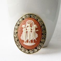 Vintage Cameo Pin Made in Germany by VintageSundries on Etsy