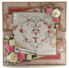 Image from Cute Cottage Garden art pad with Simply Sophisticated sentiment and Always & Forever papers