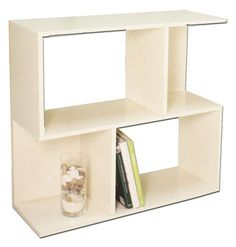 Observe Way Basics zBoard Eco Modern Storage Soho Shelf, White SALE