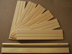 American Beadboard Kit Consists of 6 Beadboard Panels, a Top Cap Molding and a Base Molding
