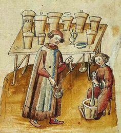 Forma  e colore cibo medievale