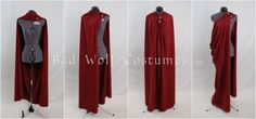 Versatile Fantasy Cape with Sword Buttons - Four Plus Ways to Wear It - Color Options. My wanting is epic.