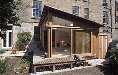 HELEN LUCAS ARCHITECTS is a versatile architectural practice providing bespoke designs to meet the demands of modern living and working. Garden Room Extensions, House Extensions, Extension Veranda, Garage Extension, Extension Ideas, Carports, Fibreglass Roof, Timber Cladding, Shed Plans