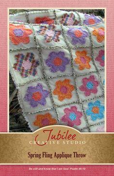 Spring Fling Ragged Quilt Pattern - $4.00