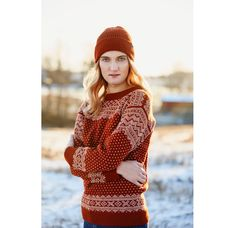 SETESDAL genser unisex | Rauma Garn Knit Crochet, Crochet Hats, Knitwear, Winter Hats, Vest, Diy Crafts, Unisex, Inspiration, Sewing
