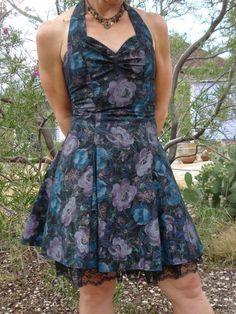 Hawaiian Pin Up Girl Halter Dress. $24.00, via Etsy.