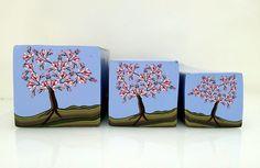 """Tree cane #42 """"Magnolia Tree 1"""" by Wendy Jorre de St Jorre."""
