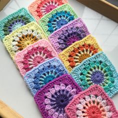 Transcendent Crochet a Solid Granny Square Ideas. Inconceivable Crochet a Solid Granny Square Ideas. Granny Square Crochet Pattern, Crochet Blocks, Crochet Squares, Crochet Blanket Patterns, Crochet Granny, Crochet Motif, Crochet Yarn, Crochet Stitches, Knitting Patterns