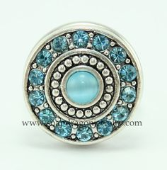 NEW FREE SHIPPING Sparkly AB Blue Chunk Snap Charm 18mm fits Ginger Snaps