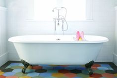 25 Great Home Projects and What They Cost: claw-foot tub #houzz #TheHurstTeam