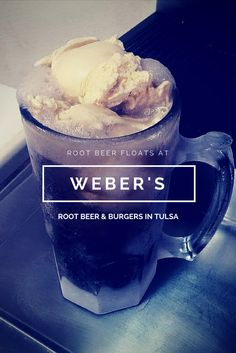 Weber's Root Beer & Burgers in Tulsa uses creamy vanilla ice cream and their homemade root beer recipe that they've been using since 1933 for their classic root beer float - all served in a frosty mug.