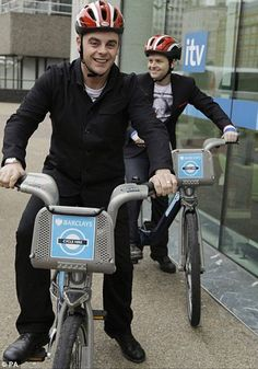 Ant and Dec loving our bikes!
