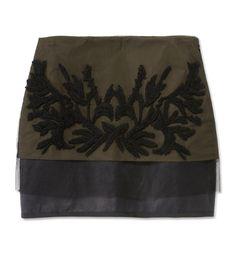 The Military Trend at #ShopBAZAAR: Maiyet Layered Mini Skirt