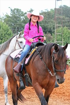 Fentress County TN FAir horse show ...her first time riding in a show..