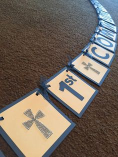 1st Communion Banner by KrissysKustomKrafts on Etsy