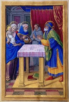 None: Presentation in the Temple | Fol. 65v | The Morgan Library & Museum