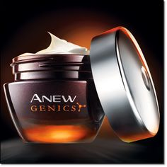 AVON Anew Genics - AVON's Fountain of Youth Night Treatment -skin looks softer not tacky or sticky and has a barely there scent. Fabulous!