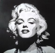 Marilyn Monroe paintingcanvaslargestencil by AbstractGraffitiShop