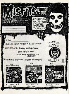 Misfits Fiend Club via insectosmx Rock Posters, Band Posters, Concert Posters, Misfits Halloween, Scary Halloween, Halloween Costumes, Misfits Band, The Misfits, Estilo Dark