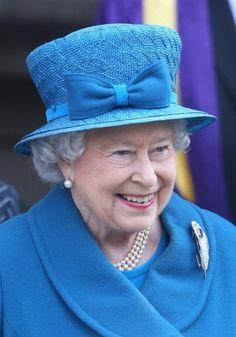 Queen Elizabeth, March 14, 2014 in Angela Kelly | The Royal Hats Blog